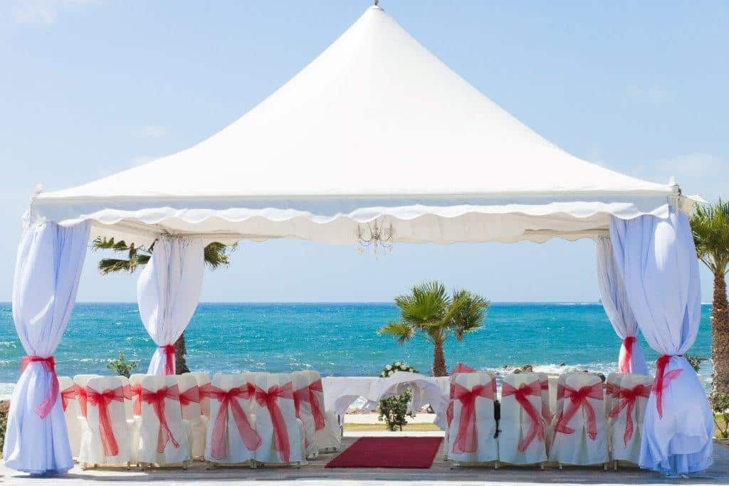 Schupepe Tents beach wedding